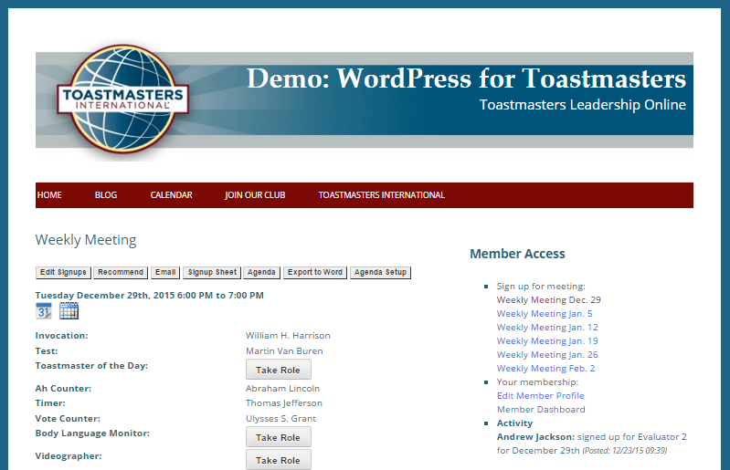 wp4toastmasters-demo